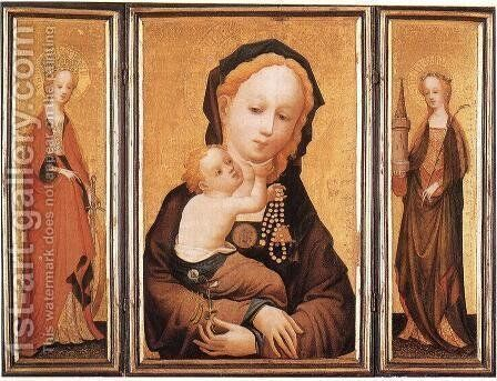 Triptych by Master of Saint Veronica - Reproduction Oil Painting