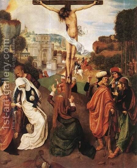 Crucifixion 2 by Master of the Virgo inter Virgines - Reproduction Oil Painting