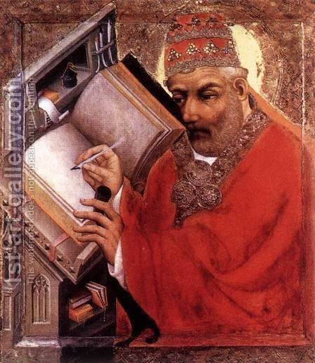 St Gregory by Master Theoderic - Reproduction Oil Painting
