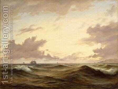 Seascape by Anton Melbye - Reproduction Oil Painting