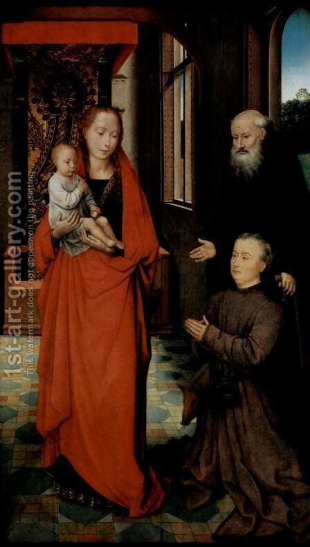 Virgin and Child with St Anthony the Abbot and a Donor 2 by Hans Memling - Reproduction Oil Painting