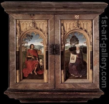 Triptych of Jan Floreins (reverse) by Hans Memling - Reproduction Oil Painting