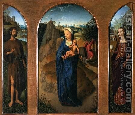 Triptych of the Rest on the Flight into Egypt by Hans Memling - Reproduction Oil Painting