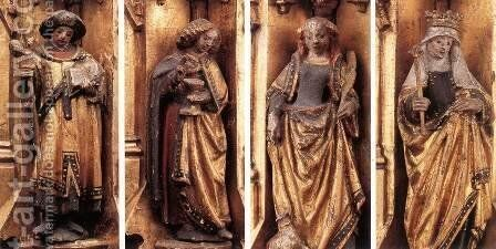 St Ursula Shrine Figures by Hans Memling - Reproduction Oil Painting