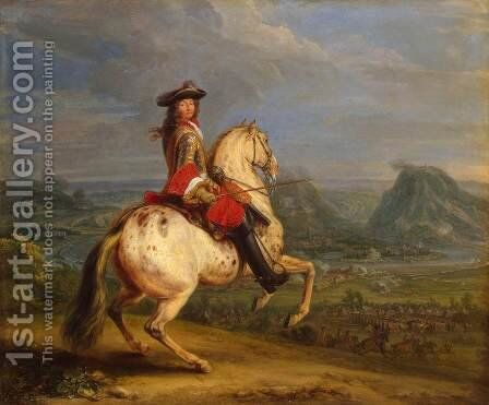 Louis XIV at the Taking of Besancon by Adam Frans van der Meulen - Reproduction Oil Painting