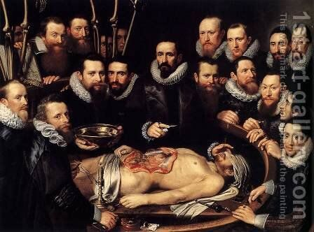 Anatomy Lesson of Dr. Willem van der Meer by Michiel Jansz. van Miereveld - Reproduction Oil Painting