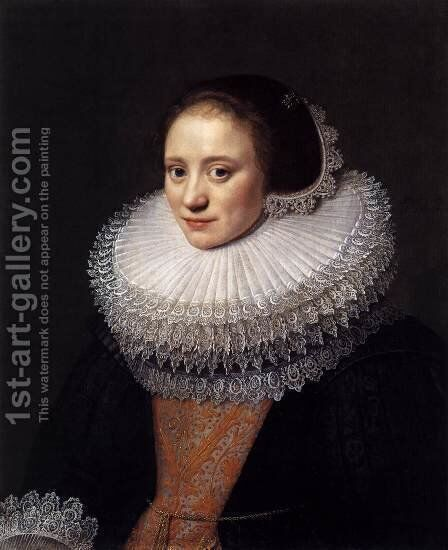 Portrait of a Woman 3 by Michiel Jansz. van Miereveld - Reproduction Oil Painting