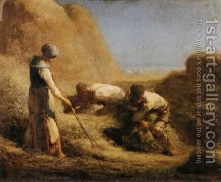 Trussing Hay by Jean-Francois Millet - Reproduction Oil Painting