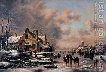 Winter Landscape 4 by Claes Molenaar (see Molenaer) - Reproduction Oil Painting
