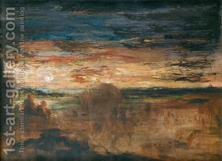 Shepherds Viewing Passing Soldiers by Gustave Moreau - Reproduction Oil Painting