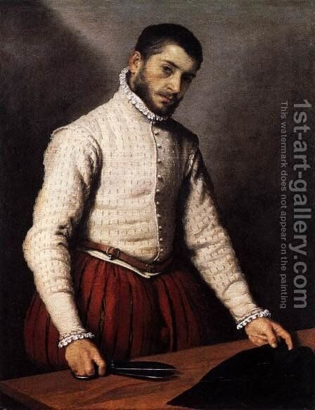 The Tailor by Giovanni Battista Moroni - Reproduction Oil Painting