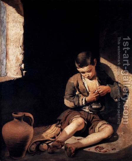 The Young Beggar by Bartolome Esteban Murillo - Reproduction Oil Painting
