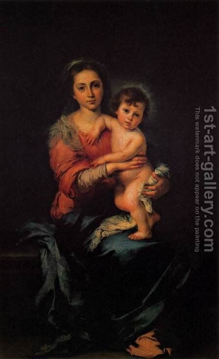 Virgin with Child by Bartolome Esteban Murillo - Reproduction Oil Painting