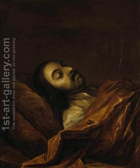 Portrait of Peter the Great on his Death-Bed by Ivan Nikitich Nikitin - Reproduction Oil Painting