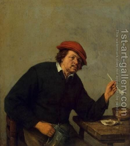Smoker by Adriaen Jansz. Van Ostade - Reproduction Oil Painting