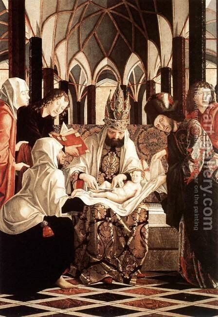 St Wolfgang Altarpiece Circumcision by Michael Pacher - Reproduction Oil Painting