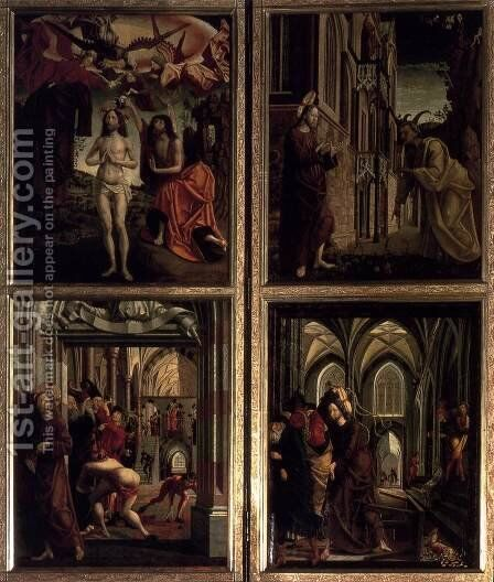 St Wolfgang Altarpiece Scenes from the Life of Christ by Michael Pacher - Reproduction Oil Painting