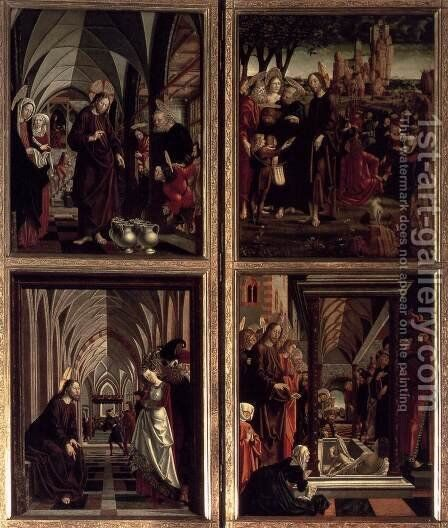 St Wolfgang Altarpiece Scenes from the Life of Christ 2 by Michael Pacher - Reproduction Oil Painting
