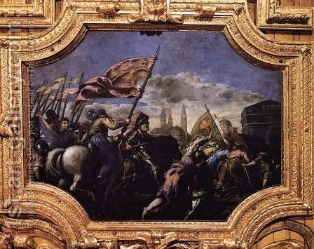 Conquest of Padua by Jacopo d'Antonio Negretti (see Palma Giovane) - Reproduction Oil Painting