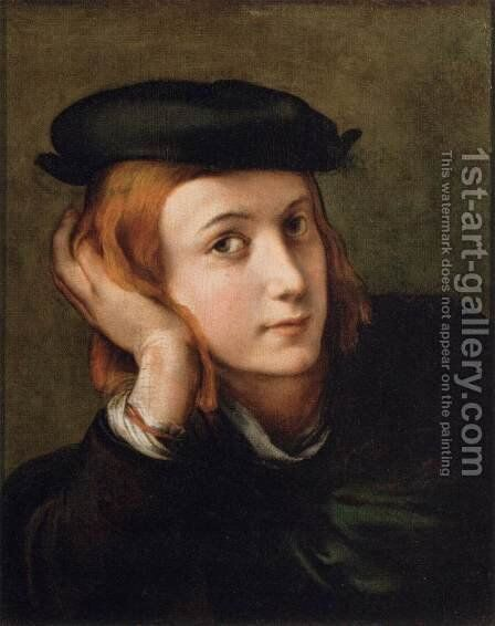 Portrait of a Youth by Girolamo Francesco Maria Mazzola (Parmigianino) - Reproduction Oil Painting