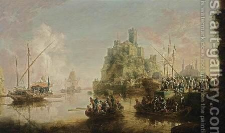 View of a Southern Coast by Bonaventure II Peeters - Reproduction Oil Painting