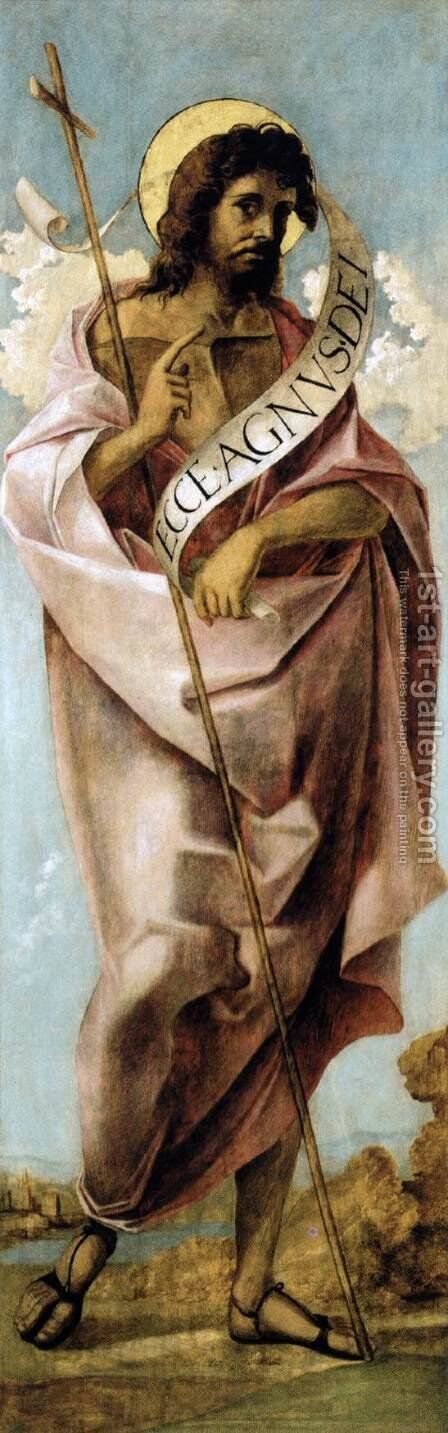 St John the Baptist by Martino Da Udine (see Pellegrino Da San Daniele) - Reproduction Oil Painting