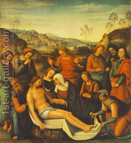 The Mourning of the Dead Christ (Deposition) by Alvaro Di Pietro (Pirez D'Évora) - Reproduction Oil Painting