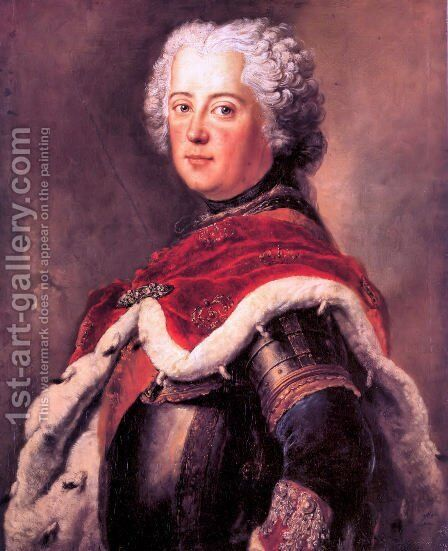 Frederick the Great as Crown Prince by Antoine Pesne - Reproduction Oil Painting