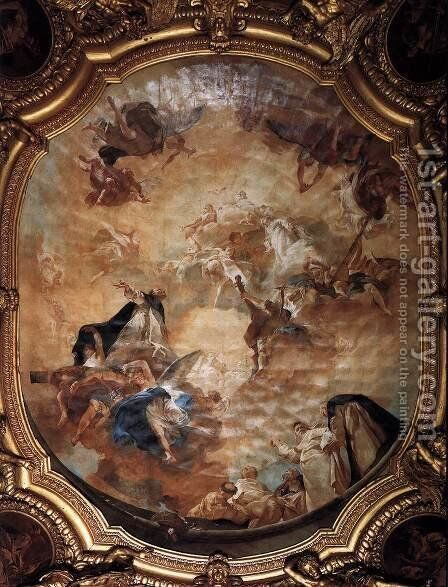 The Glory of St Dominic by Giovanni Battista Piazzetta - Reproduction Oil Painting