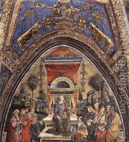 The Arithmetic 2 by Bernardino di Betto (Pinturicchio) - Reproduction Oil Painting