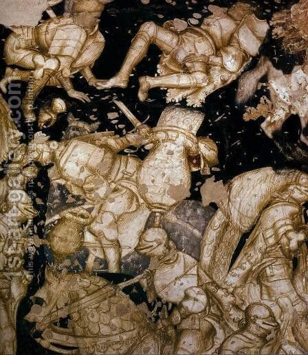 Tournament Scene (detail) 2 by Antonio Pisano (Pisanello) - Reproduction Oil Painting