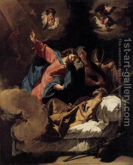 The Death of Joseph by Giovanni Battista Pittoni the younger - Reproduction Oil Painting