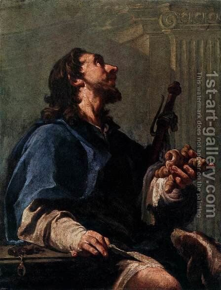 St Roch by Giovanni Battista Pittoni the younger - Reproduction Oil Painting