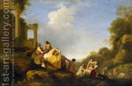Landscape with Diana and Callisto by Cornelis Van Poelenburgh - Reproduction Oil Painting