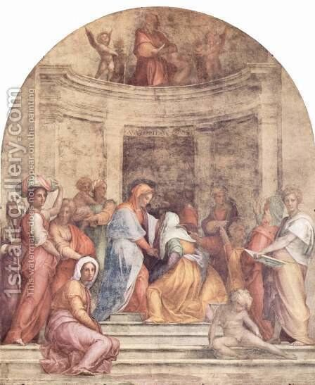 Visitation 2 by (Jacopo Carucci) Pontormo - Reproduction Oil Painting