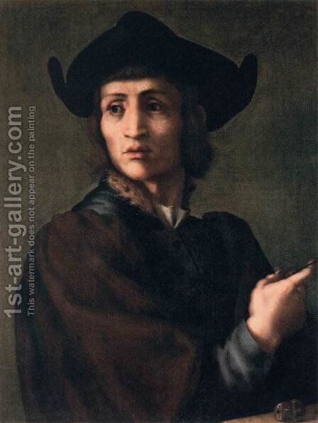 Portrait of an Engraver of Semi-Precious Stones by (Jacopo Carucci) Pontormo - Reproduction Oil Painting