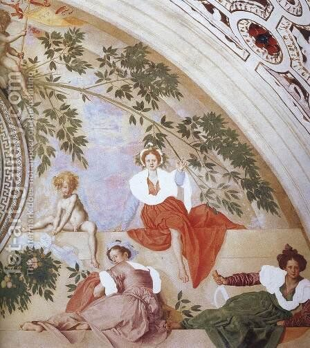 Vertumnus and Pomona (detail) 2 by (Jacopo Carucci) Pontormo - Reproduction Oil Painting