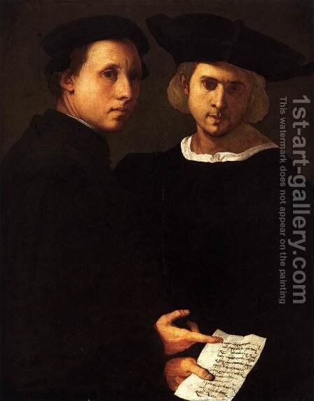 Portrait of Two Friends by (Jacopo Carucci) Pontormo - Reproduction Oil Painting