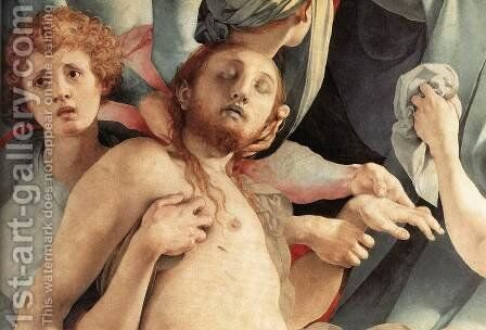 Deposition (detail) 2 by (Jacopo Carucci) Pontormo - Reproduction Oil Painting