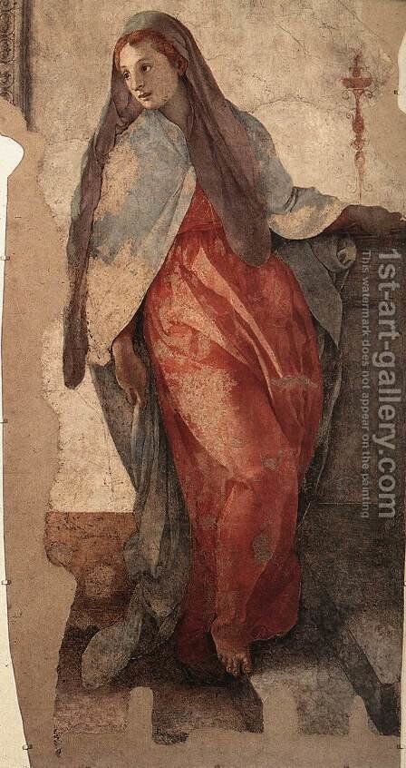 Annunciation (detail) 2 by (Jacopo Carucci) Pontormo - Reproduction Oil Painting