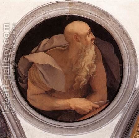 St John the Evangelist by (Jacopo Carucci) Pontormo - Reproduction Oil Painting