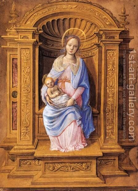 Virgin and Child by Jean Poyer - Reproduction Oil Painting