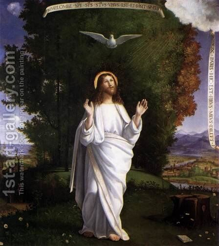 Transfiguration by Andrea Previtali - Reproduction Oil Painting