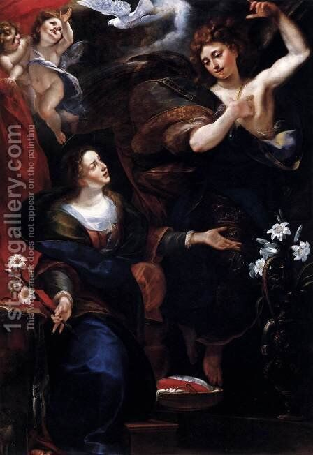 The Annunciation by Giulio Cesare Procaccini - Reproduction Oil Painting