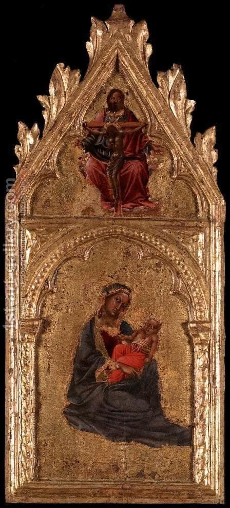 Virgin and Child by Angelo di Puccinelli - Reproduction Oil Painting