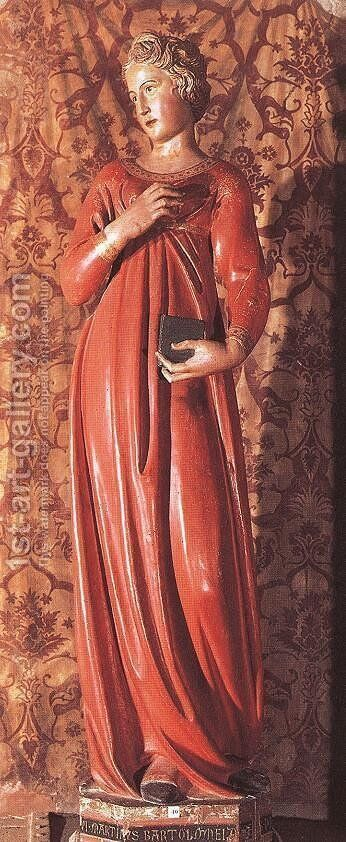 Annunciation the Virgin by Jacopo della Quercia - Reproduction Oil Painting
