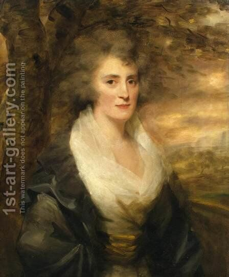 Portrait of Mrs E. Bethune by Sir Henry Raeburn - Reproduction Oil Painting