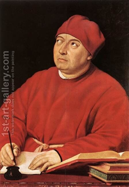Cardinal Tommaso Inghirami by Raffaelo Sanzio - Reproduction Oil Painting