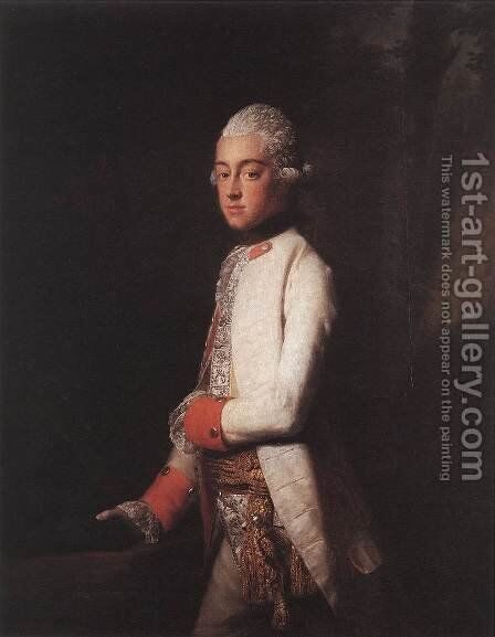 Prince George Augustus of Mecklenburg-Strelitz 2 by Allan Ramsay - Reproduction Oil Painting