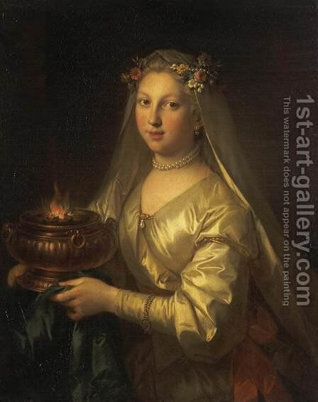 Vestal Virgin by Jean Raoux - Reproduction Oil Painting